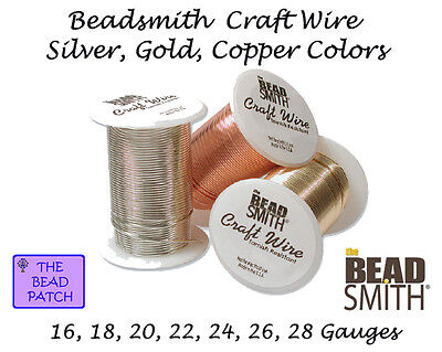 Beadsmith Tarnish Resistant Craft Wire - 3 Colors - 7 Gauges - Jewelry - Crafts