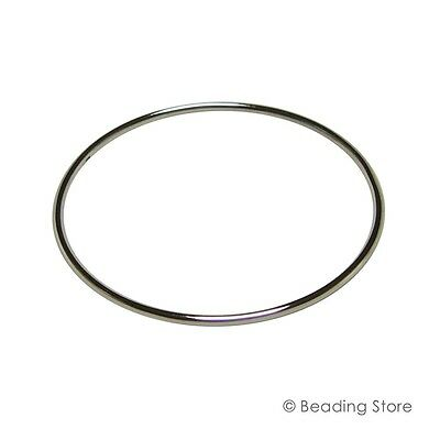 Sterling Silver 925 2mm 57mm ID Golf Bangle Bracelet 61mm OD Round Tube Tubing
