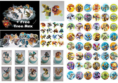 Skylander 16 Cup Cake STAND UP DiY & 48 SWAP FORCES Skylanders Toppers DIY PARTY