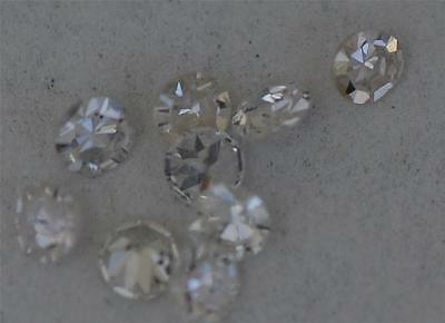 1 x LOOSE EIGHT-CUT REAL DIAMOND. SIZES 0.80MM to 1.80MM, 8 CUT, COLOUR G to I.