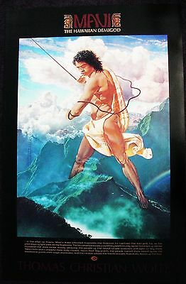 Thomas Christian Wolfe Limited Ed Lithograph S/n Maui - The Demigod