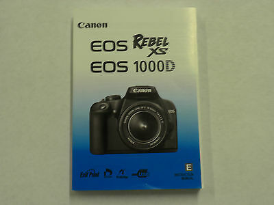 Canon Rebel XS 1000D Genuine Instruction Owners Manual XS Book Original NEW