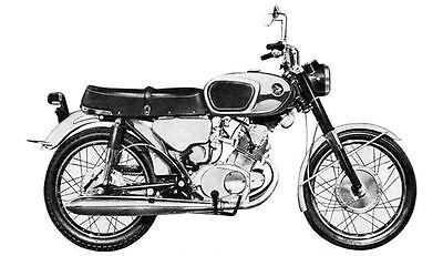 1965 Honda 160 Super Sports CB160 Motorcycle Photo J2922
