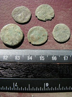 5 Ancient Roman coins + 4 oz. Mint State Restoration Coin Cleaner M161