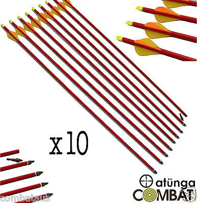 """10x 30"""" FIBREGLASS ARROWS 4 COMPOUND OR RECURVE BOW TARGET ARCHERY HUNTING NEW"""