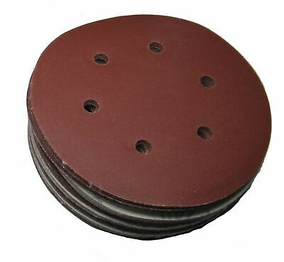 "Rdgtools 6"" Hook And Loop Sanding Discs ( 50 Per Pack ) P60 Grit 150Mm"