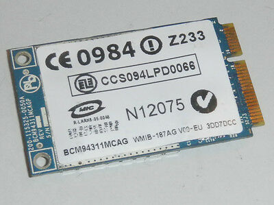 Broadcom BCM94311MCAG 802.11b/g Mini PCI-Express Wireless Card