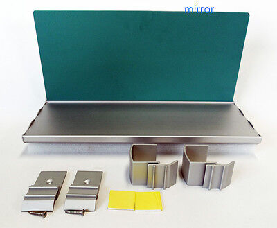 easy install mirror document holder aluminum shelf for office cubicle panel