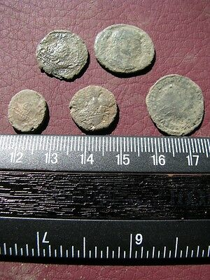 5 Ancient Roman coins + 4 oz. Mint State Restoration Coin Cleaner M141