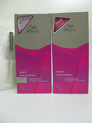 WELLA WAVE IT PERMS 2 Hair Types FREE PERM KIT Papers Cap Clip Neck Wool+