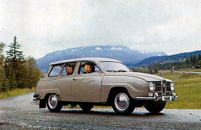 1965 Saab 95 Station Wagon Factory Photo J3687