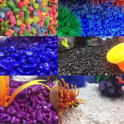 Coloured Glazed Gravel for Aquarium Floral Candle Plants Crafts & Model Railways