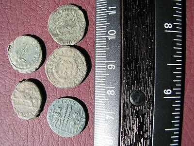5 HQ Ancient Roman coins + 4 oz. Mint State Restoration Coin Cleaner   M120