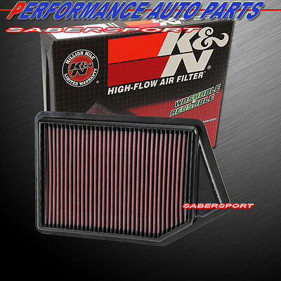 15-16 TLX K/&N 33-2498 Replacement Drop-in Air Filter for 2013-2017 ACCORD 2.4L