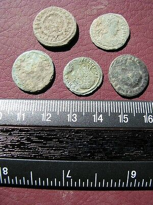 5 HQ Ancient Roman coins + 4 oz. Mint State Restoration Coin Cleaner   M124