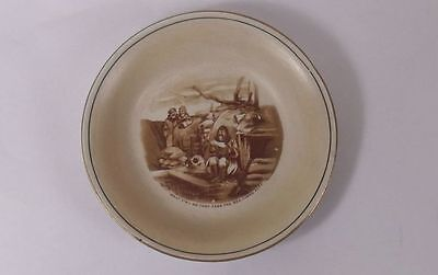 "Bruce Bairnsfather -""Sea-Lions"" Dish - Souvenirs from the Great War by Grimwades"