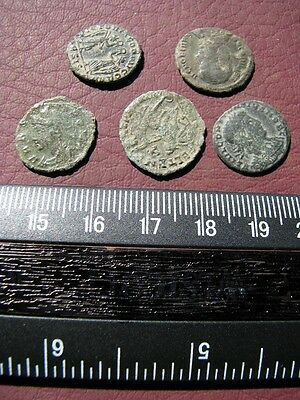 5 HQ Ancient Roman coins + 4 oz. Mint State Restoration Coin Cleaner   M115