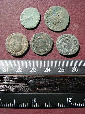 5 HQ Ancient Roman coins + 4 oz. Mint State Restoration Coin Cleaner   M126
