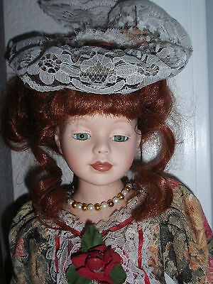Victorian DOLL, 16 INCH. BISQUE PORCELAIN