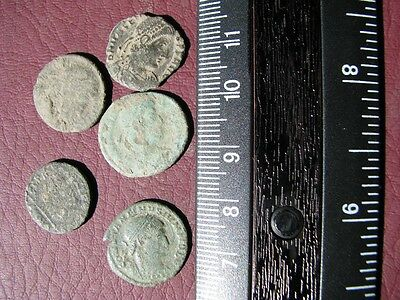 5 HQ Ancient Roman coins + 4 oz. Mint State Restoration Coin Cleaner   M111
