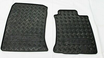Toyota Prado 120 Series Rubber Floor Mats Front 2002-2009 New Genuine Accessory