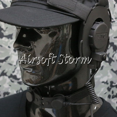 Airsoft Gear Z Tactical Throat Mic for Bowman EVO III Headset Black