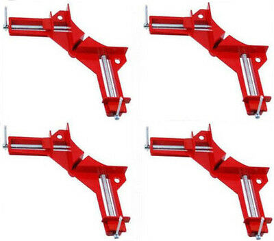 "HAWK TZ7100- 4-PAK 90 Degree Angle Corner Clamp 3"" Capacity Picture Frame Jig."