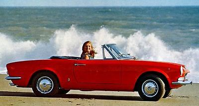 1969 Fiat 124 Sport Spider Pininfarina Factory Photo J4298