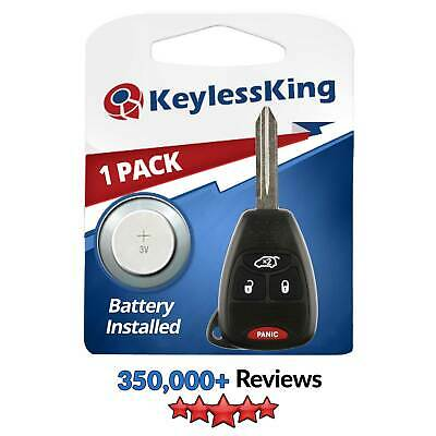 New Uncut Remote Head Key Keyless Entry Combo Transmitter Fob Hatch 4 Button