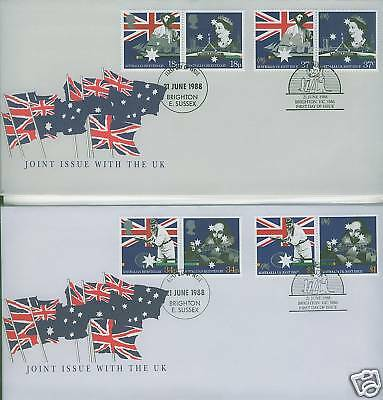 Australia + Great Britain 1988 Joint Issue  FDC