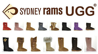 BNWT Sydney Rams Women's Men's Classic Short Ugg Boots Aus Made Genuine Leather