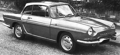 1966 Renault Caravelle 1100S Coupe Factory Photo J4943
