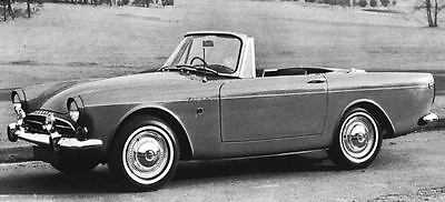 1966 Sunbeam Tiger 260 Factory Photo J4993
