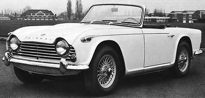 1966 Triumph TR4A Factory Photo J5021