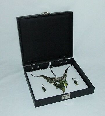 Multipurpose Traveling Display Case With Hinged Lid And White Insert