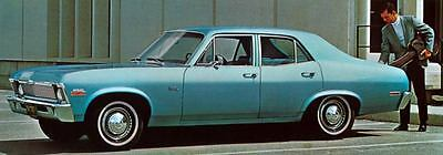 1970 Chevrolet Nova 4 Door Sedan Factory Photo J5240