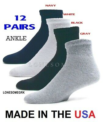72082003e 12 Pairs Womens Physicians Choice VENTILATED Diabetic Ankle Socks 9-11  VARIETY