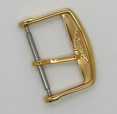 New Longines Yellow Gold Plated Replacement Pin Buckle for Watch Band Strap