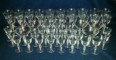 50 Glasses of Assorted Sizes (likely Murano)