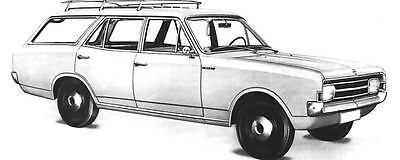 1967 Opel Rekord Caravan Station Wagon Factory Photo J5770