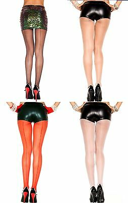 SHEER BACK SEAM Pantyhose/Tights 4 COLORS O/S & PLUS