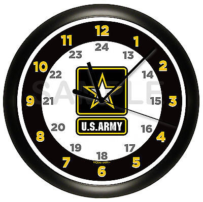 ARMY WALL CLOCK UNITED STATES MILITARY ARMED FORCES GIFT DECOR SOLDIER