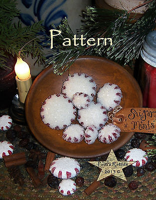 Primitive Patti's Ratties Christmas Peppermint Candy Doll Paper Pattern #640