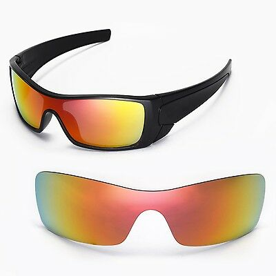 551834cbe9 New Walleva Polarized Fire Red Replacement Lenses For Oakley Batwolf  Sunglasses