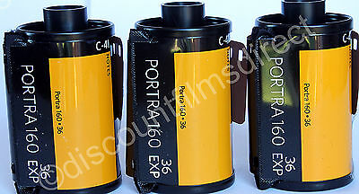 3 x Kodak  Portra 160 35mm 36 exposure Cheap Colour Print  Film - 1st CLASS POST