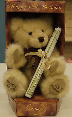 Aurora Teddy Original Hand Crafted 100Th Birthday Bear Collectable