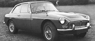 1968 MG MGC GT Factory Photo J6175