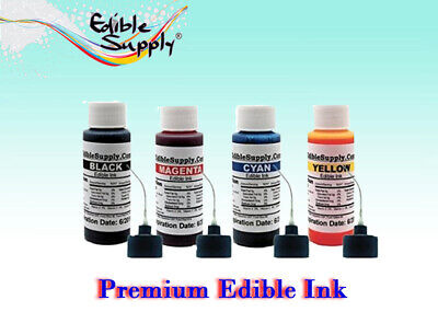 2 oz - 4 Color Edible Ink Refill Kits for Epson Printer