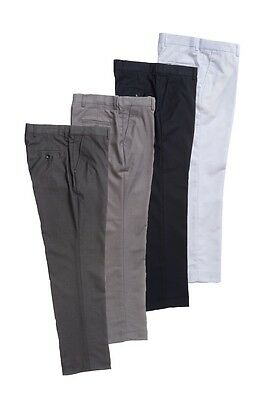 Flat Front Boys Dress Pants Black Gray White Toddler(2T-4T) Kids(4-7)Boys(8-18)
