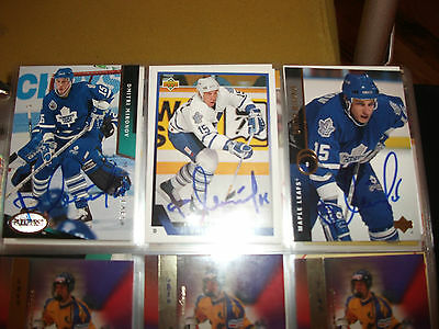 Dmitri Mironov Autographed 1993-94 Upper Deck # 513 Toronto Maple Leafs